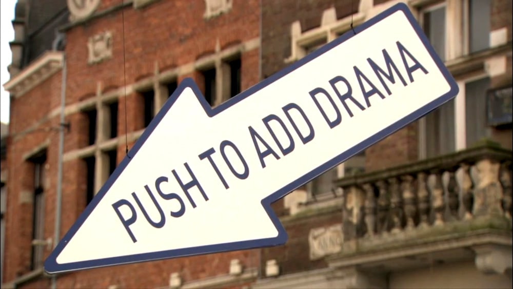 Push to add drama - Street Marketing
