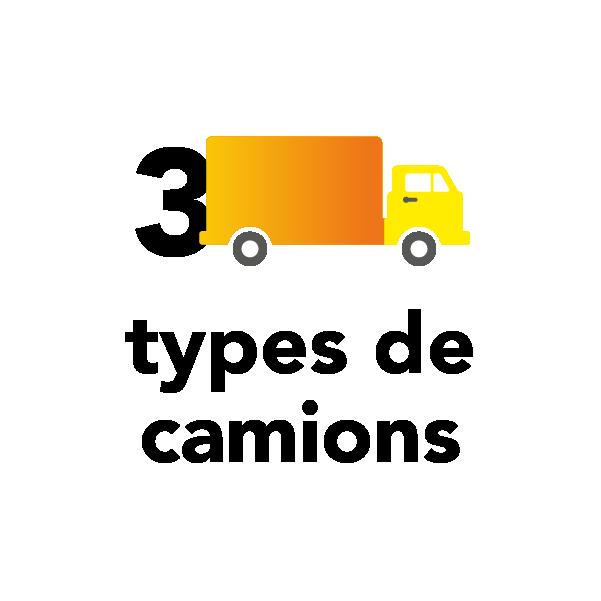 3 types de camions