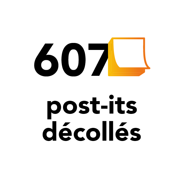 607 post-its décollés