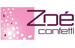 Logo Zoe confetti