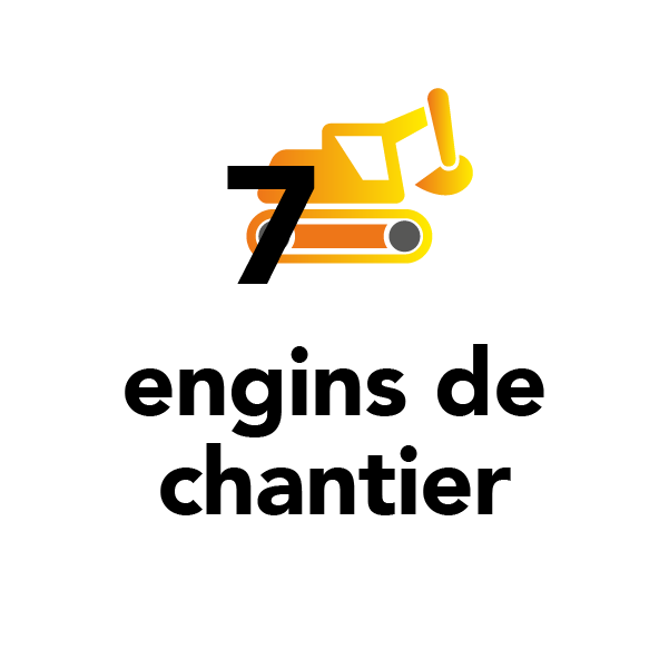 7 engins de chantier