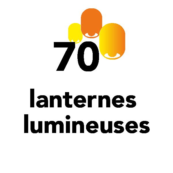 70 lanternes lumineuses