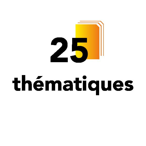 25 thématiques