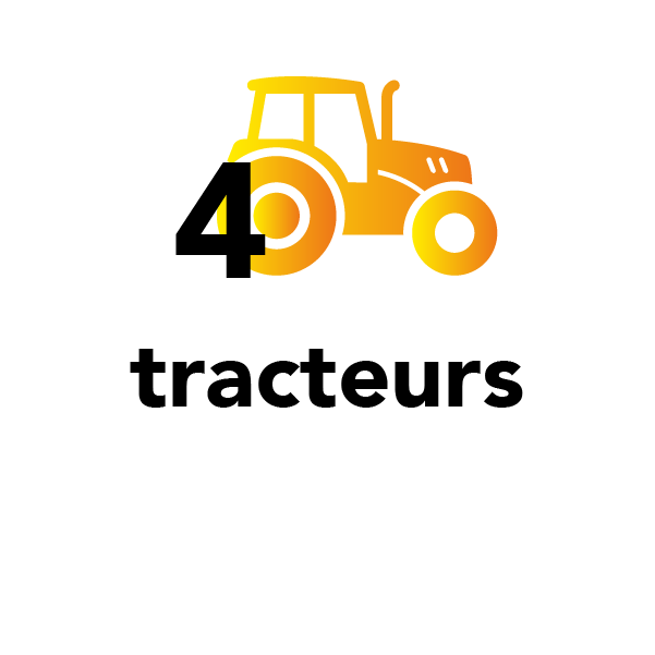 4 tracteurs