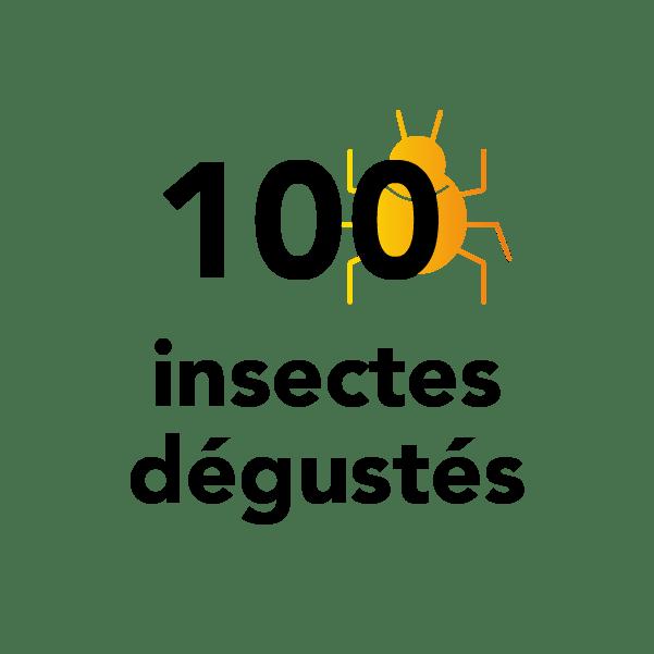 100 insectes dégustés