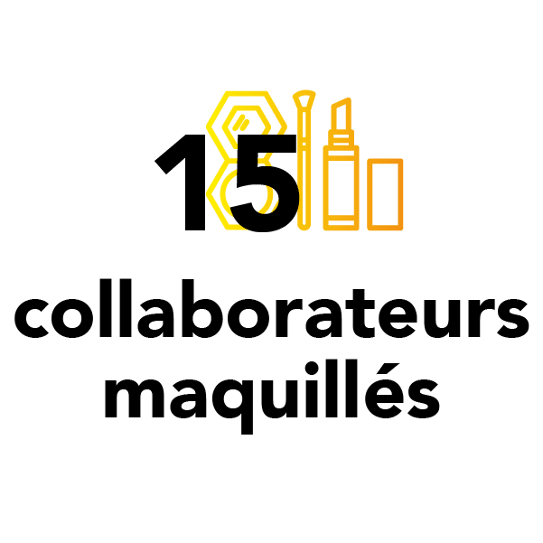 15 collaborateurs maquillés