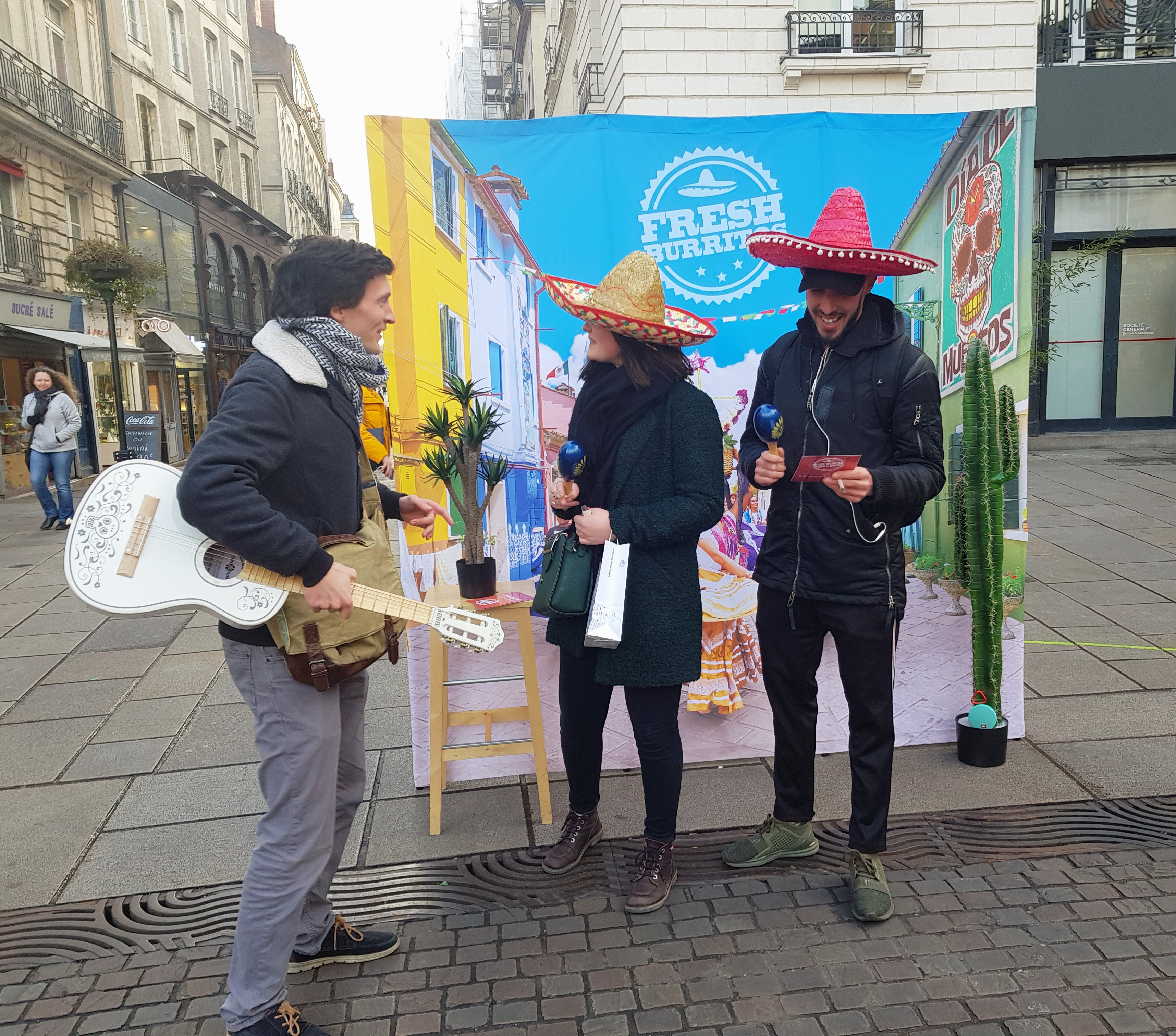 Street Marketing Fresh Burritos