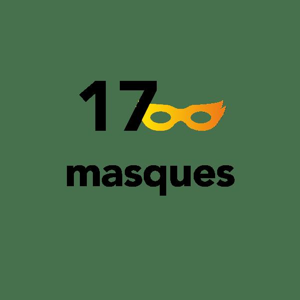 17 masques