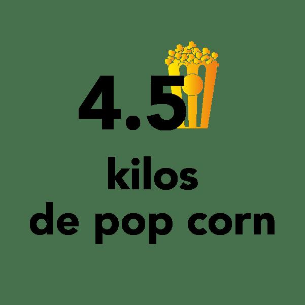 4.5 kilos de pop corn