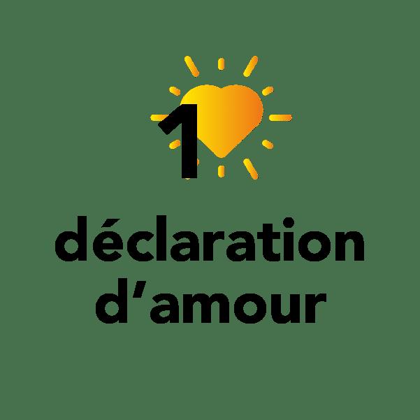 1 déclaration d'amour