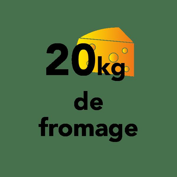 20kg de fromage