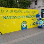 Mur final de l'évenement street marketing Produit en Bretagne