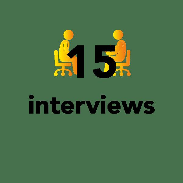 15 interviews