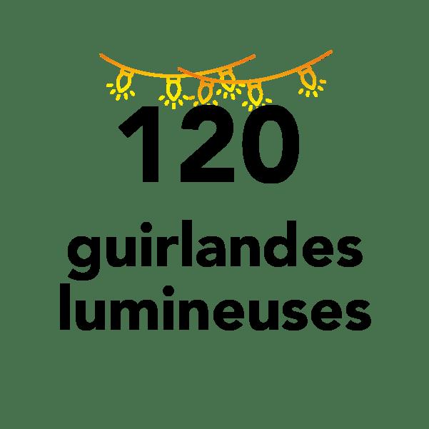 120 guirlandes lumineuses
