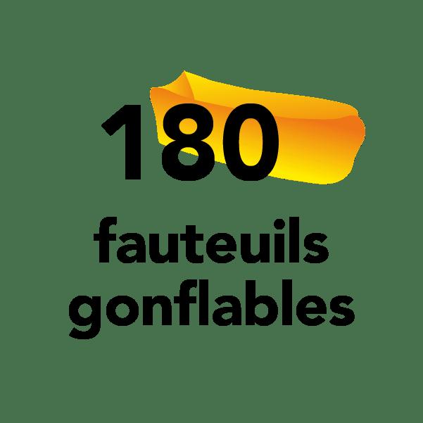 180 fauteuils gonflables