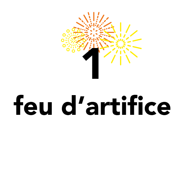 1 feu d'artifice