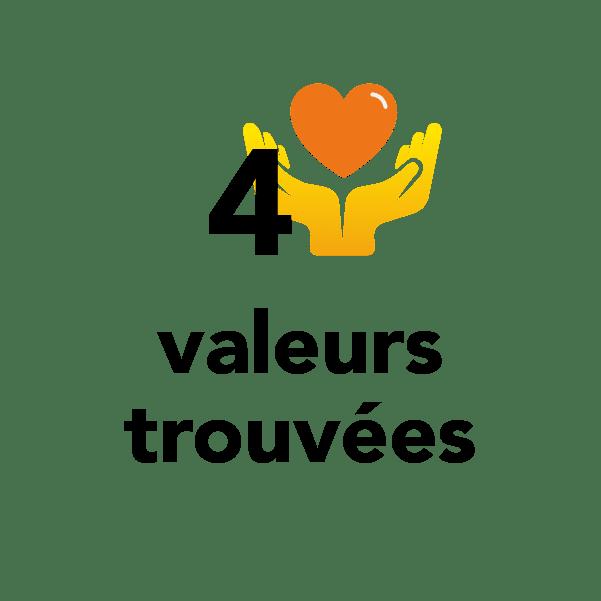 4 valeurs trouvées