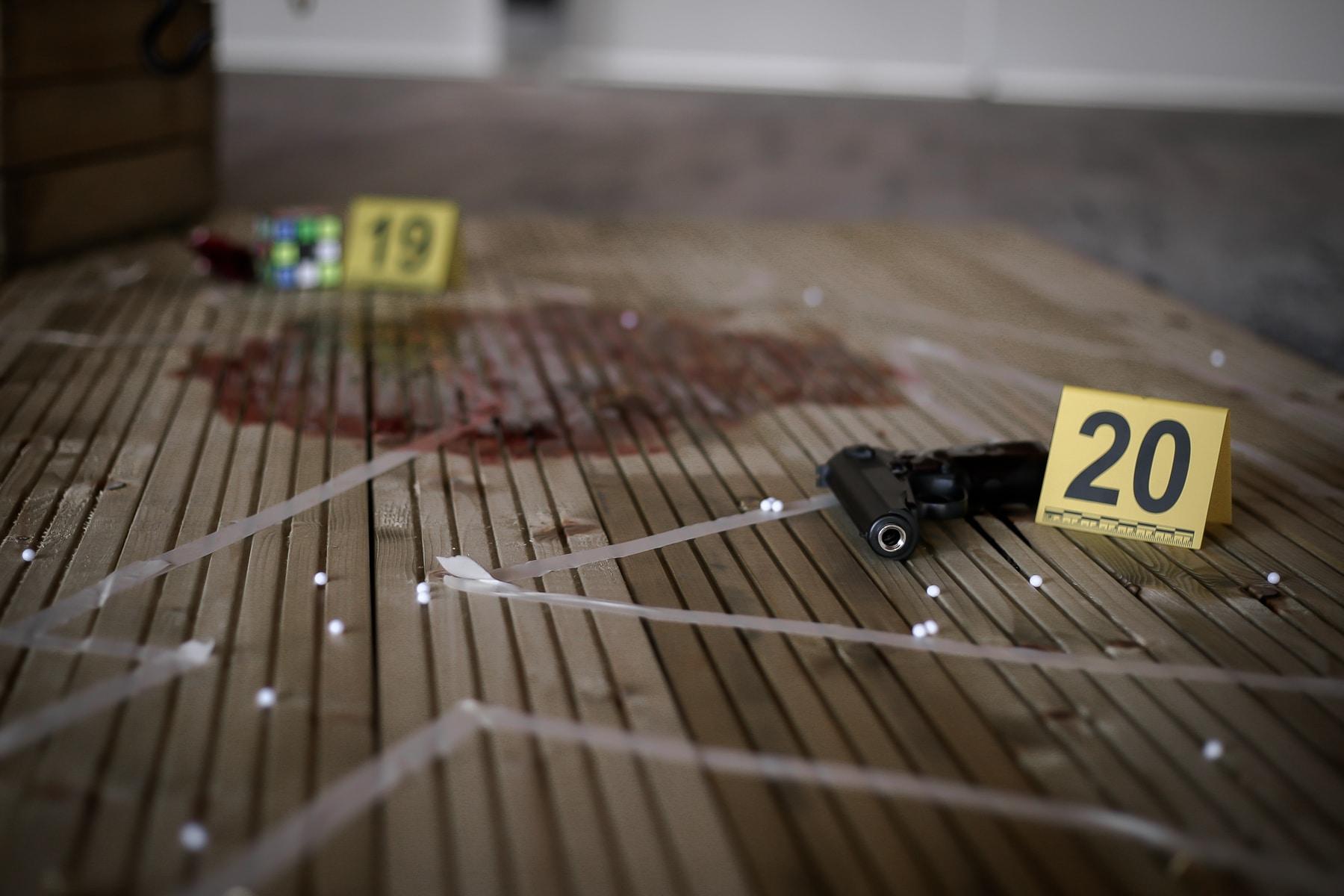 scène reconstitution d'un meurtre - événementiel Arpège
