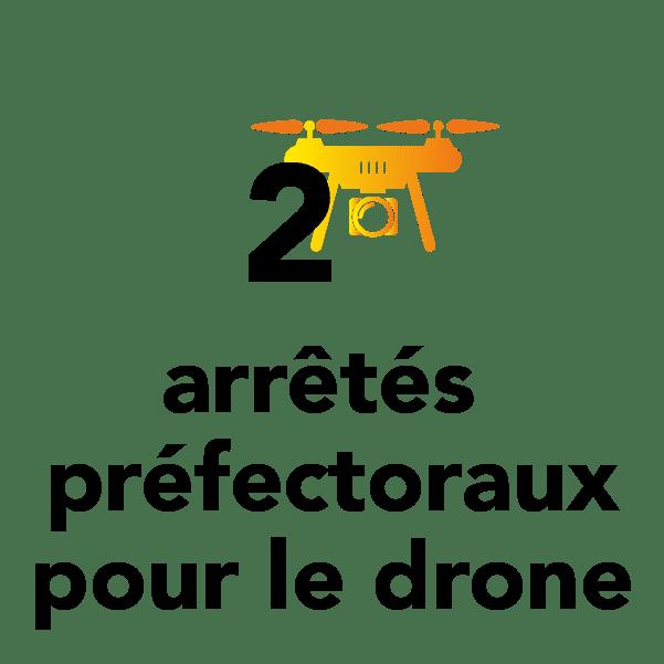 2 arrêtés préfectoraux pour le drone