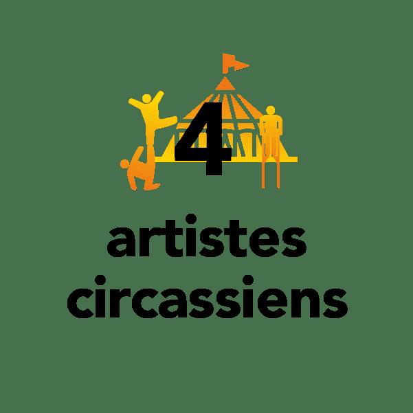 4 artistes circassiens