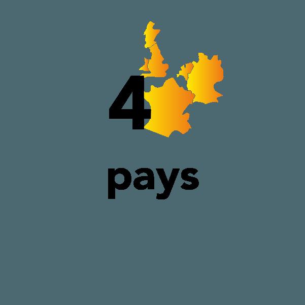 4 pays