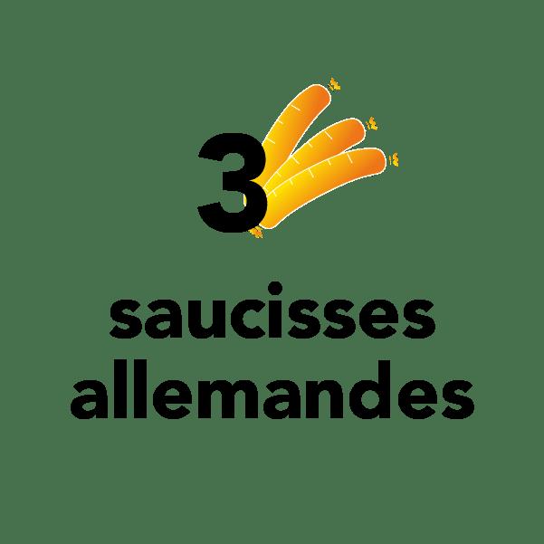 3 saucisses allemandes