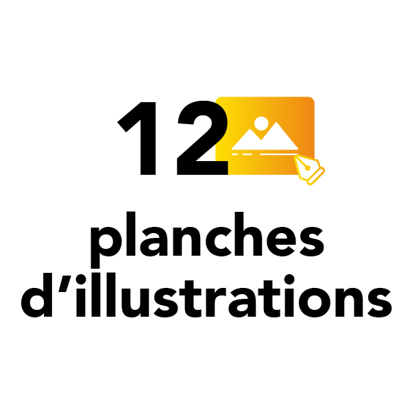 12 planches d'illustrations