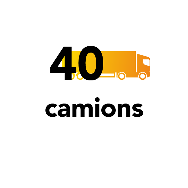 40 camions