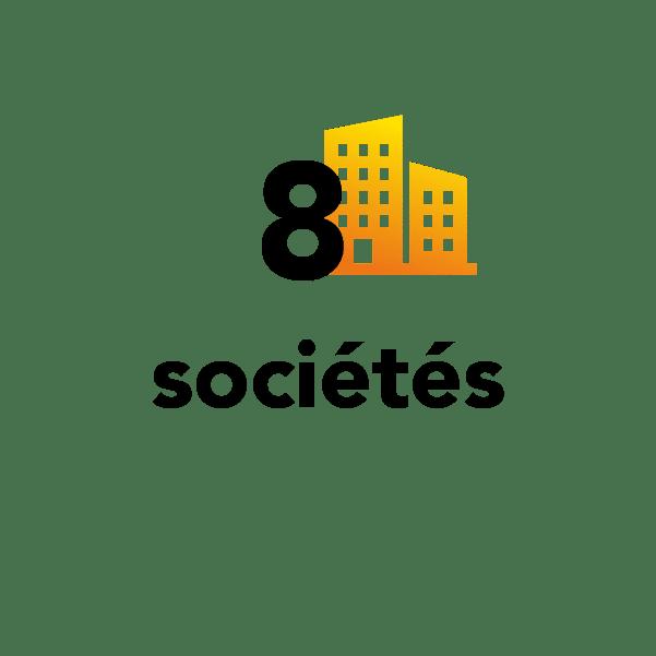 8 sociétés