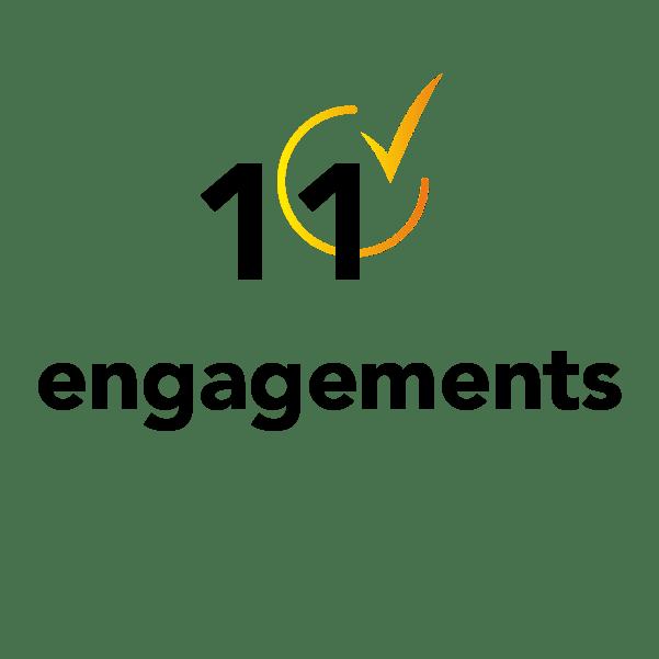 11 engagements