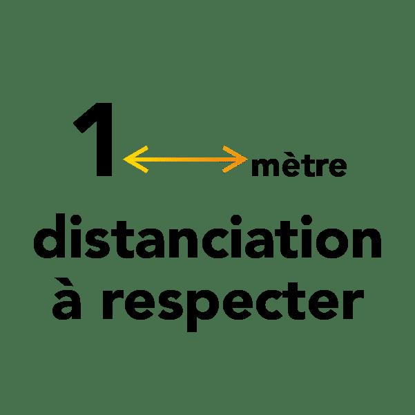 1 mètre de distanciation sociale