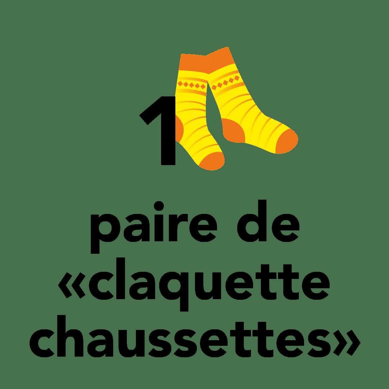 1 paire de claquette chaussettes