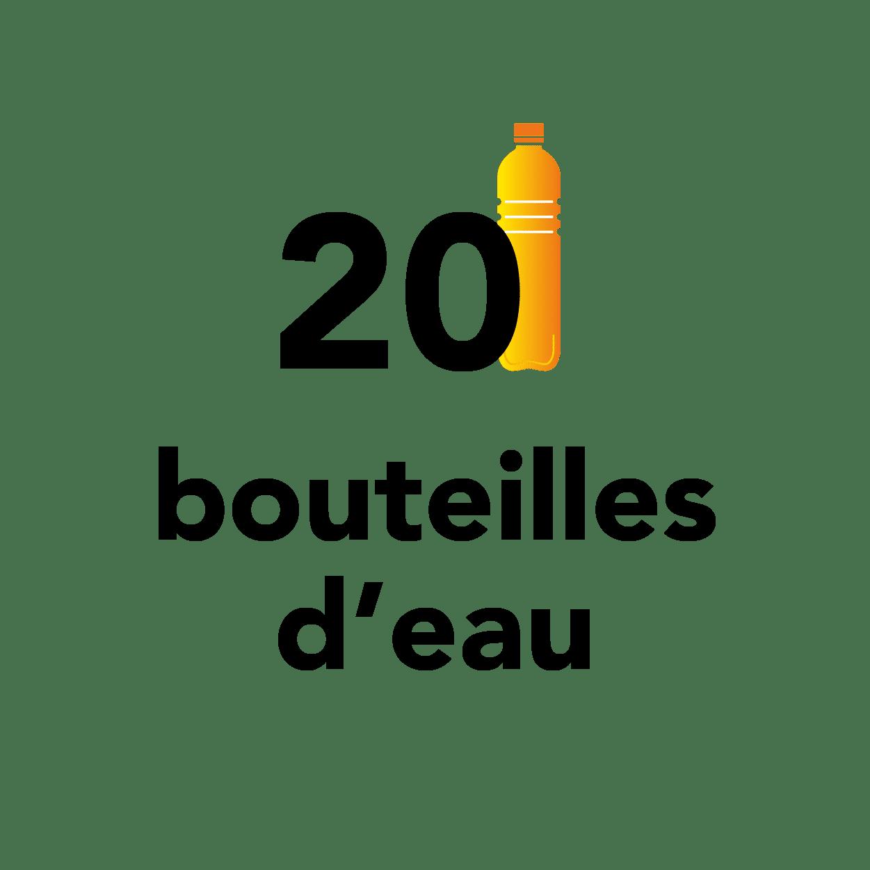 20 bouteilles d'eau