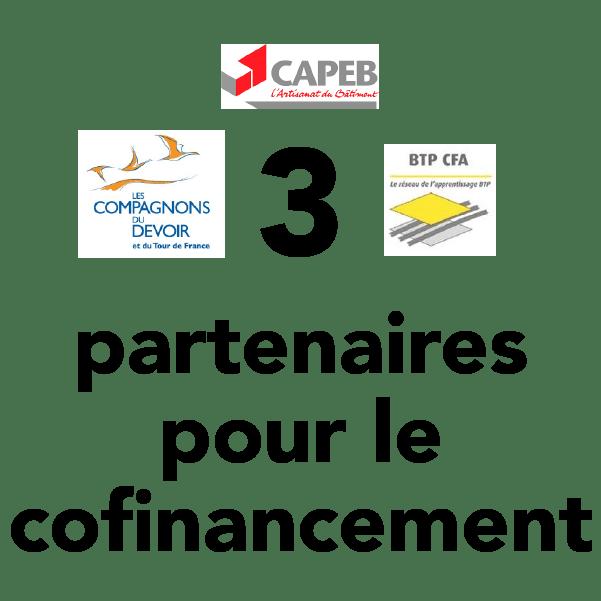 3 partenaires pour le cofinancement