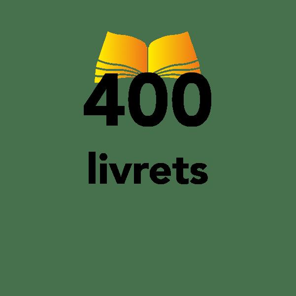 400 livrets d'accueil